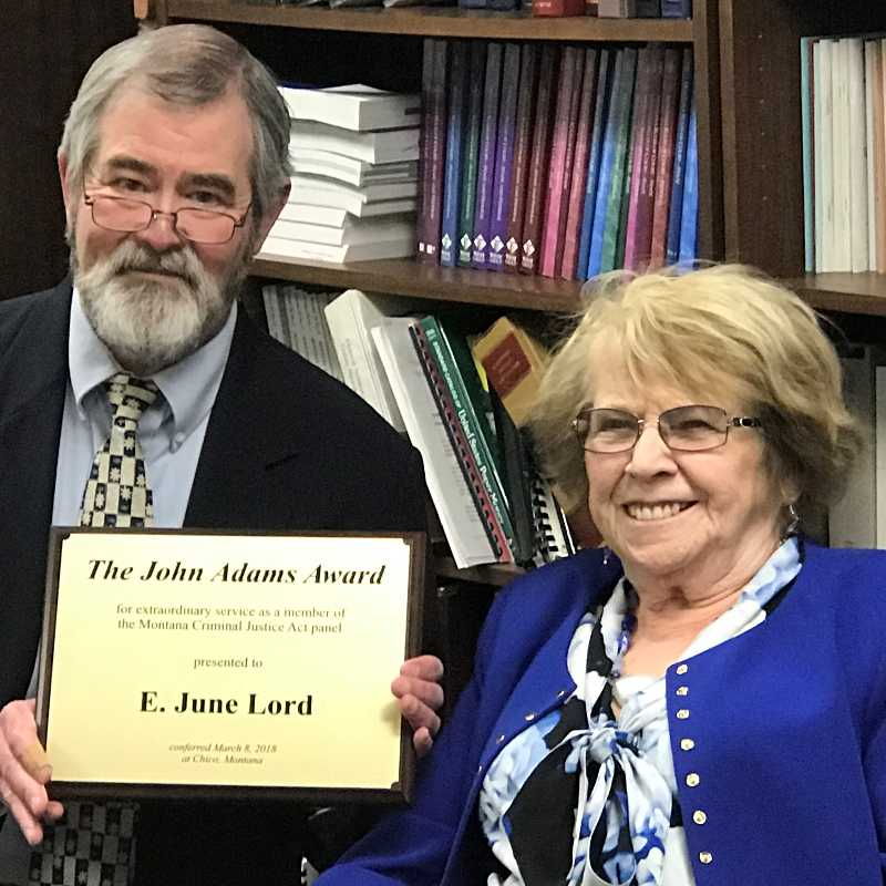 2018 John Adams Award: E. June Lord